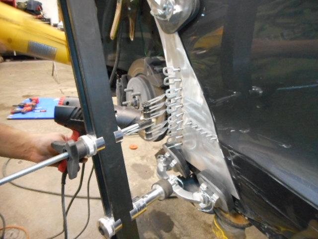 Tesla During Aluminum Auto Body Repair