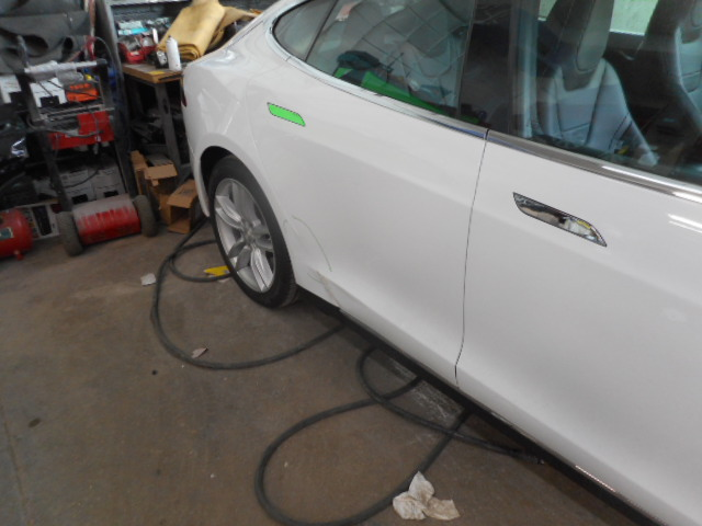 Tesla Collision Repair Side Body Damage Allston