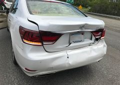 2017 lexus ls460 accident in boston