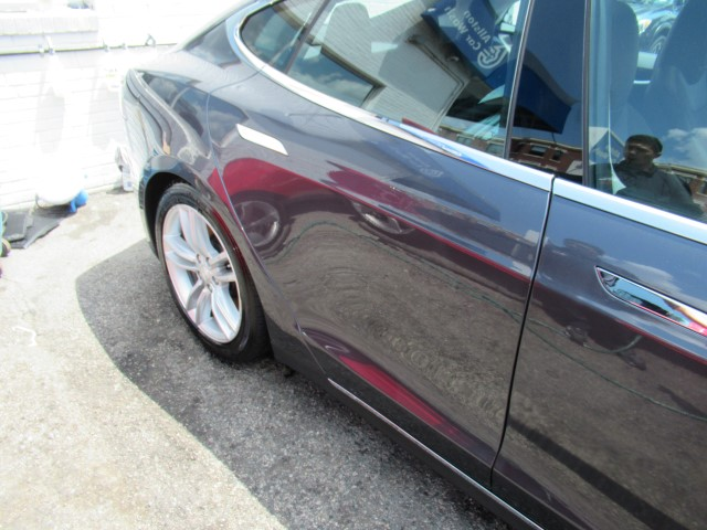 2015 Tesla 75 side body damage repair complete