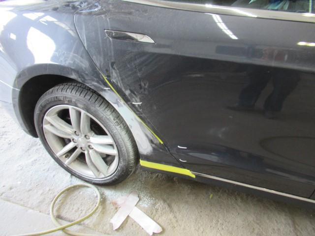 2015 Tesla 75 side body damage repair
