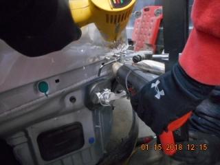 2016 TESLA X90 auto body repairs in progress
