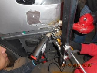 2016 TESLA X90 aluminum auto body repairs in progress