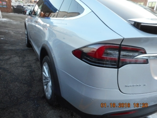 2016 Tesla X auto body work completed