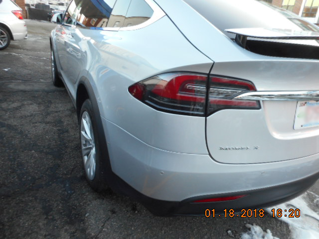 2016 Tesla X collision repairs completed