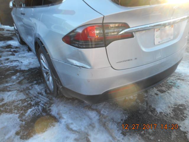 2016 tesla x before rear end collision repair