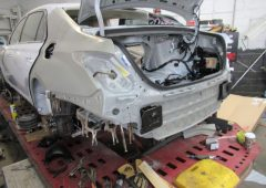hyundai genesis g90 rear end rebuilt after accident